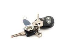 USB drive and key from car Stock Photos