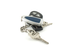 USB drive and key from car Stock Photo