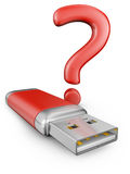 Usb drive of red color Stock Photo