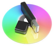 Usb And Dvd Storage Shows Portable Memory Royalty Free Stock Photos