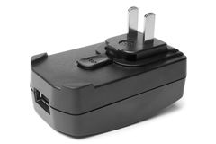 usb elektryczny adaptatoru port Zdjęcie Royalty Free