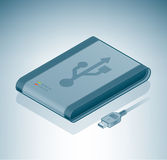 USB External Drive Stock Photo
