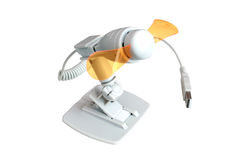 USB Fan (clipping path). Miniature fan plugs into usb port showing clip and/or base royalty free stock photos