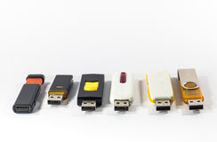 USB flash card. On white background Stock Images
