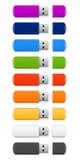 USB Flash colorato Immagine Stock Libera da Diritti