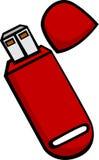 Usb flash drive. Illustration of an usb flash drive Stock Photos