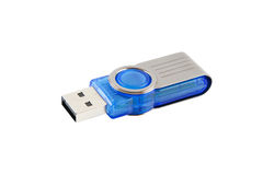 USB flash drive. Isolated on white with clipping path