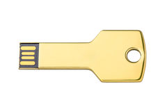 USB flash drive as a key to store information Stock Photography