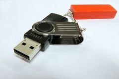 a USB flash drive stock photography