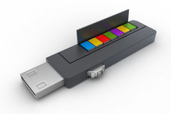 Usb flash drive and books Royalty Free Stock Image