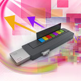 Usb flash drive and books Stock Photography