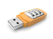 USB flash drive with combination lock Royalty Free Stock Images