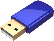 USB Flash drive computer removable memory Stock Photography