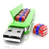 USB flash drive 3D Royalty Free Stock Images