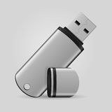 USB flash drive. On gray background Royalty Free Stock Images
