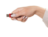 USB flash drive hand Royalty Free Stock Image