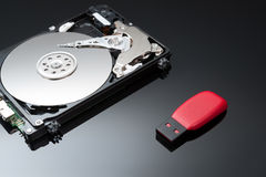 USB Flash Drive with hard disk Stock Images