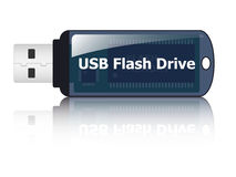 USB flash drive icon. In additional format Royalty Free Stock Photography