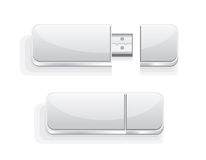 Usb flash drive icon, vector Royalty Free Stock Images