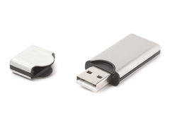 USB flash drive isolated Stock Images