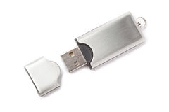 USB flash drive isolated Stock Photos
