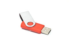 Flash drive. USB flash drive isolated on white Royalty Free Stock Photos
