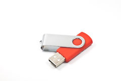 Flash drive. USB flash drive isolated on white Stock Image