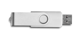 Usb flash drive. Isolated on white Stock Photos