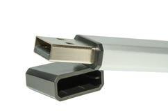 USB Flash Drive isolated on white background. Generic USB flash drive with open cover isolated on white Royalty Free Stock Images