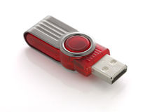 USB flash drive isolated Stock Photo