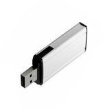 Usb flash drive isolated on white. Background Royalty Free Stock Images
