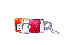 USB Flash Drive Isolated on White Background. Stock Photo