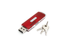 USB flash drive with a keys Royalty Free Stock Photo