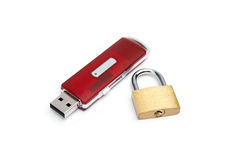 USB flash drive with a lock Royalty Free Stock Photography