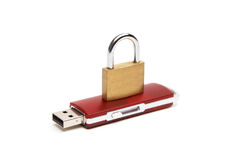 USB flash drive with a lock Stock Images
