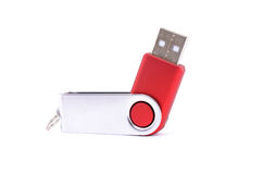 USB flash drive made ​​of metal and plastic Royalty Free Stock Image