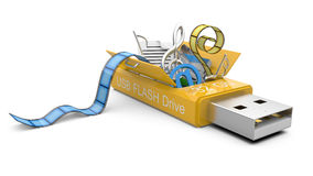 USB Flash drive with my documents Royalty Free Stock Photography