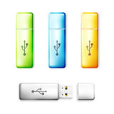 USB flash drive over white background Stock Photography
