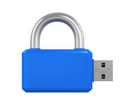 USB Flash Drive Padlock Royalty Free Stock Photography