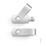 USB Flash Drive Stick Memory Vector Set Isolated Royalty Free Stock Photo