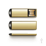 USB Flash Drive Stick Memory Vector Set Isolated Royalty Free Stock Images
