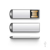 USB Flash Drive Stick Memory Vector Set Isolated Stock Photography