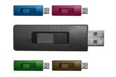 Usb flash drive. Isolated on white background Royalty Free Stock Image