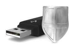 Usb flash drive on white background Stock Photos