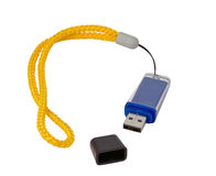 Usb flash drive. On the white background Stock Photography
