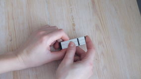 USB flash drive stock video footage