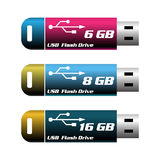 Usb flash drives Stock Image