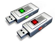 USB flash drives conceptual Stock Photos