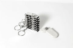 USB flash drives with metal housing Stock Photography