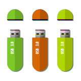 USB flash drives Stock Photo